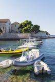 Boats at Hvar island in Croatia Royalty Free Stock Photos