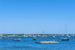 Boats in Hyannis Port Harbor Royalty Free Stock Image