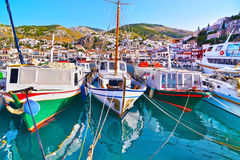 Boats at Hydra Saronic Gulf Greece Royalty Free Stock Image