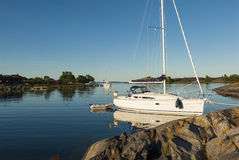 Nature harbour Utfredel Sweden Royalty Free Stock Photo