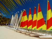 Boats In Line, Mauritius Stock Photography
