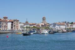Free Boats In Saint-Jean De Luz - Ciboure Harbour. Aquitaine, France. Stock Photo - 72094730