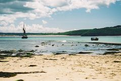 Boats In The Bay At St Ives, Cornwall Stock Photography