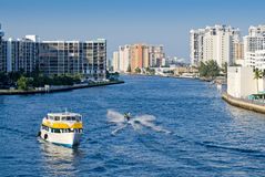 Boats on intracoastal waterway Royalty Free Stock Photography
