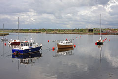 Boats at Irvine. Boats moored on the river at Irvine, Scotland Stock Photography