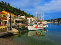 Boats on Ithaca Island Stock Photography