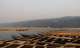 Boats. In jafflong river sylhet near Indian Border city, Dauti Royalty Free Stock Photo