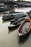 Boats in Jakarta slum. Boats in a canal of Jakarta slum, Indonesia stock photography