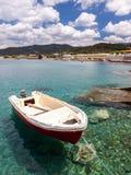 Boats at Kamiros Skala. Small boats moored at Kamiros Skala dock, Rhodes Greece Royalty Free Stock Images