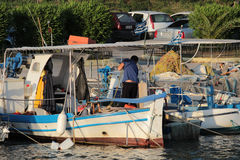 Boats in Kanoni, Corfu Stock Photos