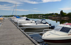 Boats in Karlskrona's harbor Royalty Free Stock Photography