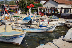 Boats in Kekove  harbor Royalty Free Stock Images