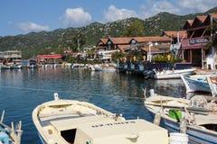 Boats in Kekove  harbor Royalty Free Stock Photo