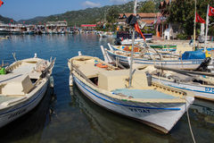 Boats in Kekove  harbor Stock Photos