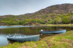 Boats at the Killarney lake in Ireland Royalty Free Stock Photography