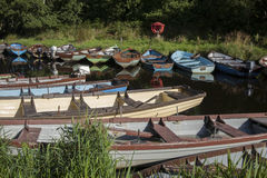Boats in Killarney National Park, County Kerry Royalty Free Stock Images