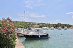 Boats in Klimno on the island of Krk Royalty Free Stock Photo