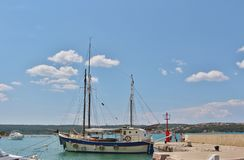 Boats in Klimno on the island of Krk Stock Photo