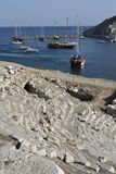 Boats in  Knidos Stock Photo