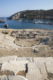 Boats in Knidos, Mugla, Turkey Stock Photo