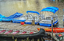 Boats on the Lachine Canal. The Lachine Canal Canal de Lachine in French is a canal passing through the southwestern part of the Island of Montreal, Quebec stock photo