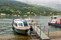 Boats on the Lago Maggiore Royalty Free Stock Photo