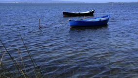 Boats in the Lagoon stock footage
