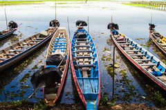 Boats and lagoon Stock Photography