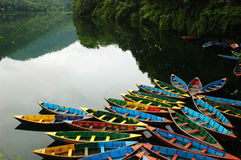 Boats at lake Stock Photography
