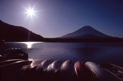 Boats on a Lake Stock Photography