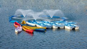 Boats in a lake Stock Photography