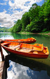 Boats on a lake Royalty Free Stock Photo