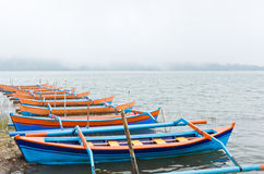Boats on a lake Royalty Free Stock Photos