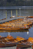 Boats on the lake Stock Image