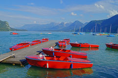 Boats on a lake Royalty Free Stock Photography