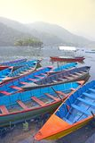 Boats on a lake in Asia Stock Photos