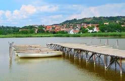 Boats on the lake of Balaton Royalty Free Stock Photo
