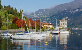 Boats on Lake Como royalty free stock photography