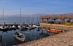Boats on Lake Como, Italy. Royalty Free Stock Images