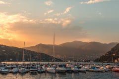 Como. Boats in Lake Como, Italy Royalty Free Stock Photography