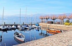 Boats on Lake Como, Italy. Royalty Free Stock Image