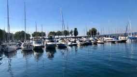 Boats at Lake Constance Harbor Stock Image