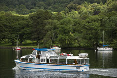 Boats on a lake in England. Royalty Free Stock Photos