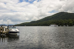 Boats on a lake in England. Royalty Free Stock Images