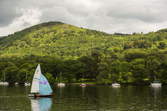 Boats on a lake in England. Stock Image