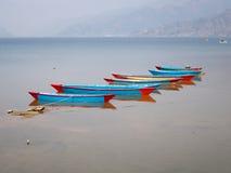 Boats on Lake Fewa Stock Photography