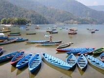 Boats on Lake Fewa Stock Photo