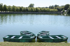 Boats on Lake fontainebleau Stock Image