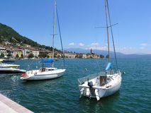 Boats in Lake Garda Royalty Free Stock Photos