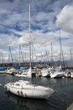 Boats on Lake Geneva Stock Photo